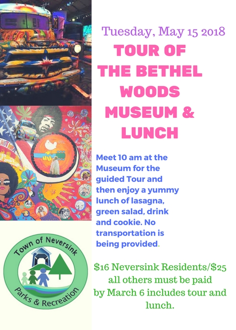 Bethelwoods museum tour lunch May 15 2018 flyer