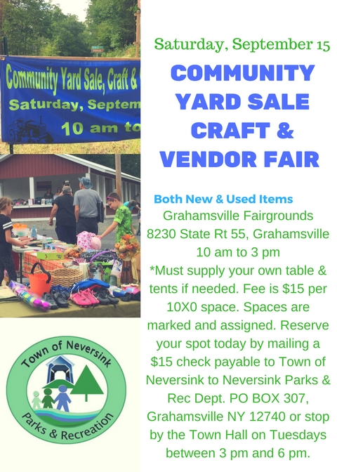 Community yard Sale craft Vendor fair