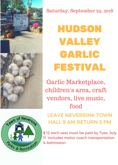 Garlic Festival Sept 29 2018 flyer