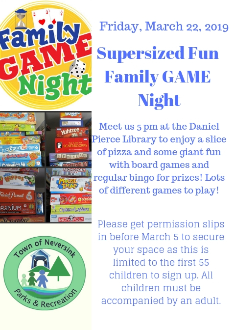 Family Game Night March 22 2019