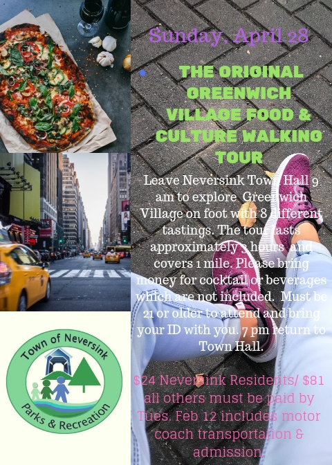 Greenwich Village Food Culture Walking Tour April 28 2019