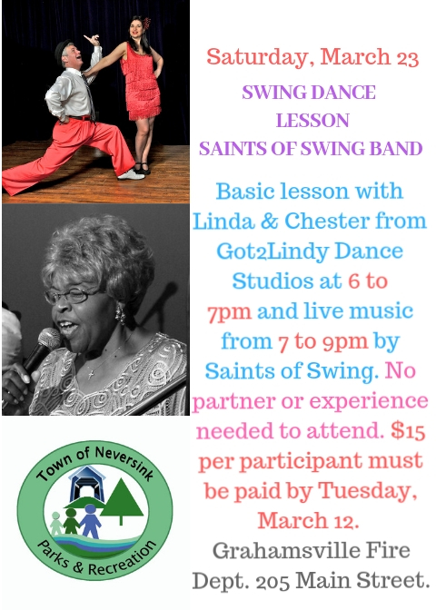 March 23 Swing Dance Lesson Saints of Swing Band